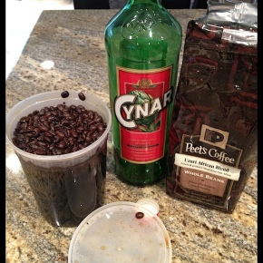 Coffee infused Cynar