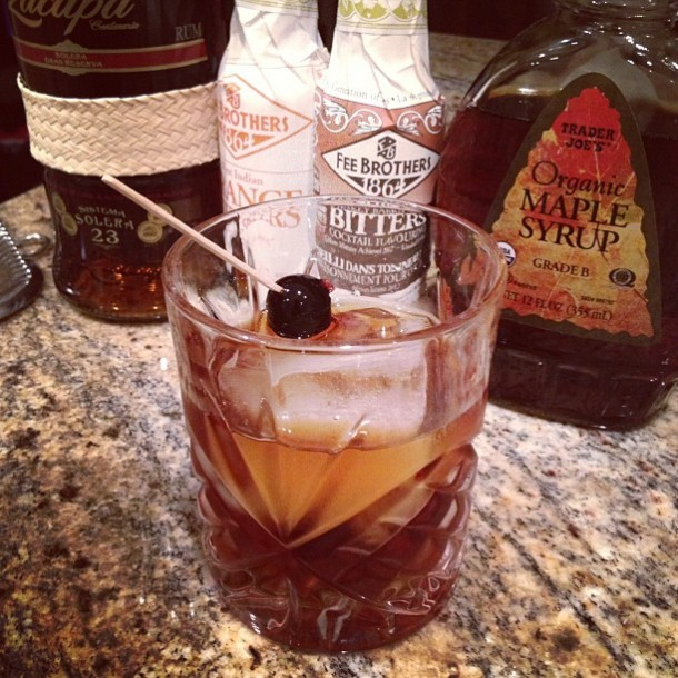 Rum Maple Old Fashioned with Ron Zacapa